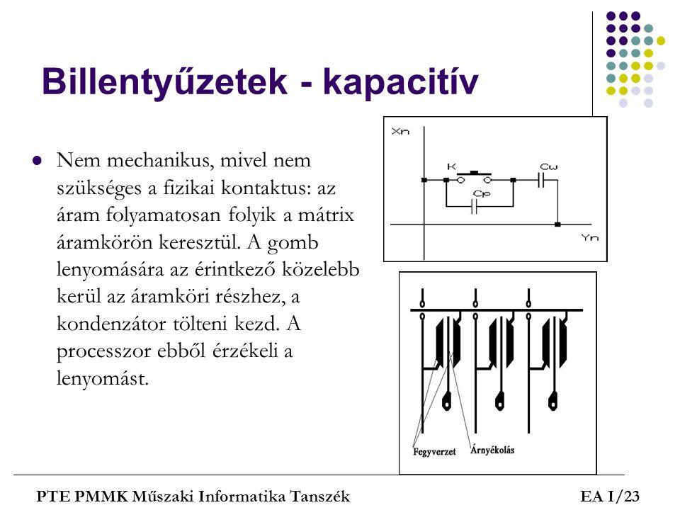 Billentyűzetek - kapacitív