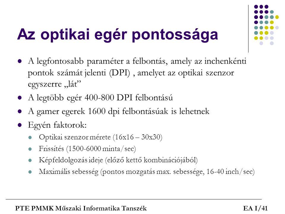 Az optikai egér pontossága