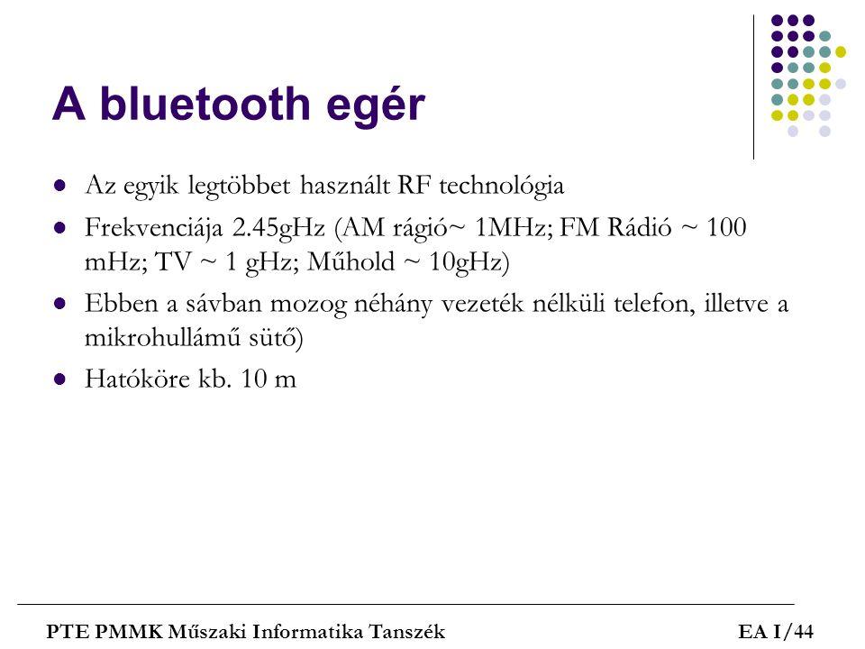 A bluetooth egér Az egyik legtöbbet használt RF technológia