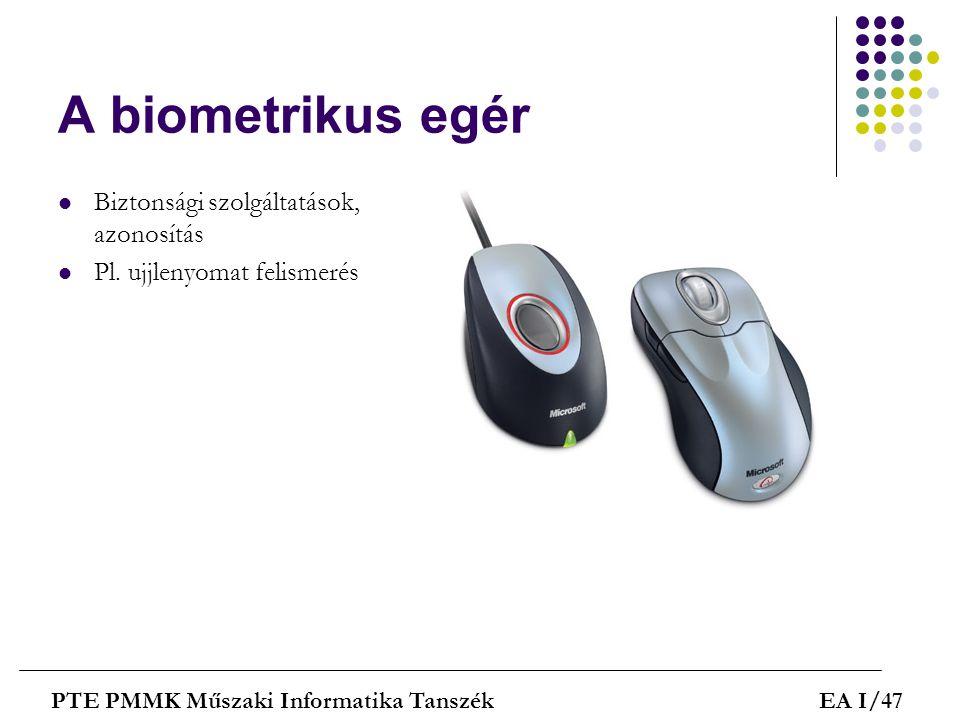 A biometrikus egér Biztonsági szolgáltatások, azonosítás