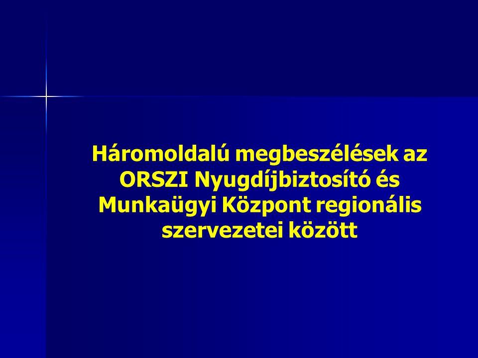 Háromoldalú megbeszélések az ORSZI Nyugdíjbiztosító és Munkaügyi Központ regionális szervezetei között