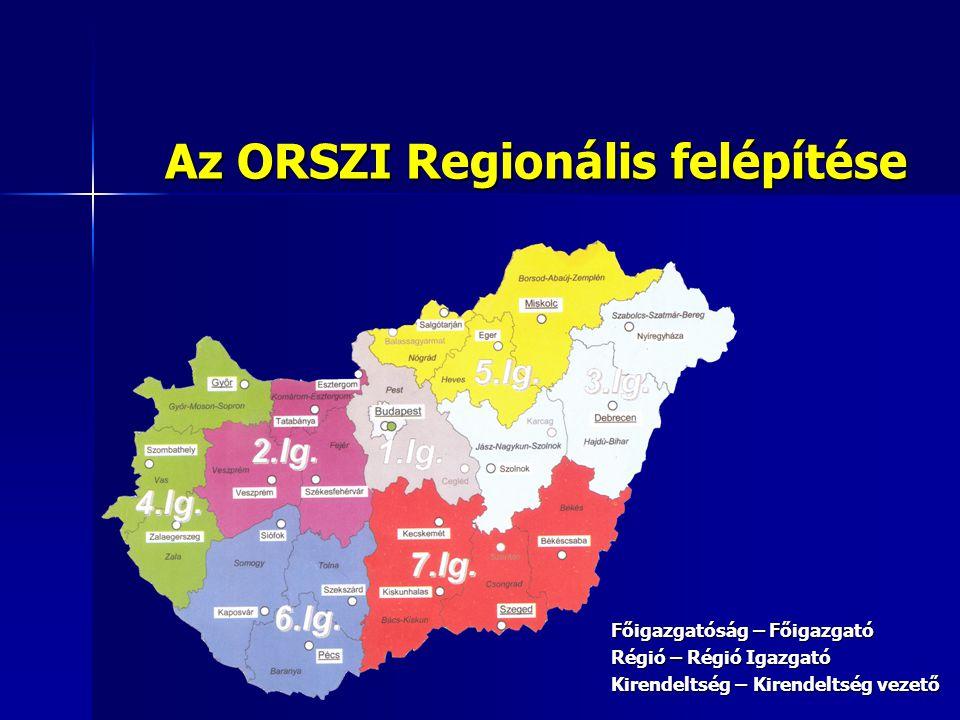 Az ORSZI Regionális felépítése