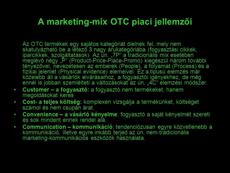 A marketing-mix OTC piaci jellemzői
