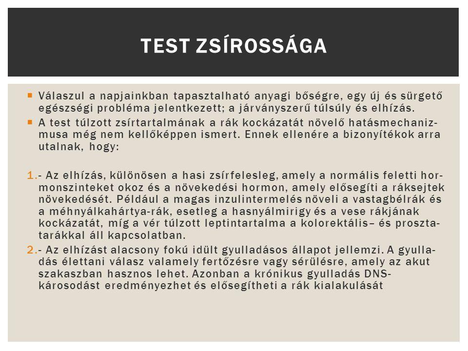 TEST ZSÍROSSÁGA