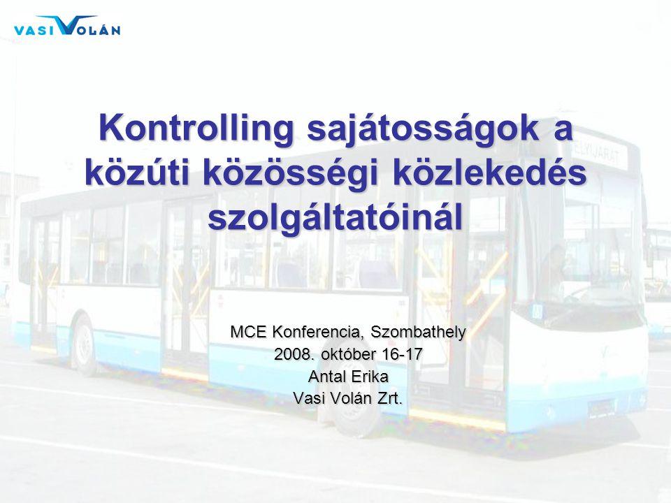 Kontrolling sajátosságok a közúti közösségi közlekedés szolgáltatóinál