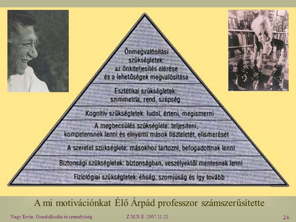 A mi motivációnkat Élő Árpád professzor számszerűsítette