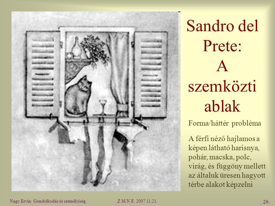 Sandro del Prete: A szemközti ablak