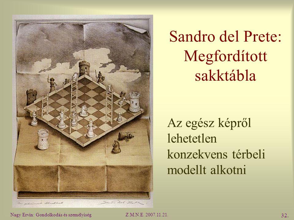 Sandro del Prete: Megfordított sakktábla