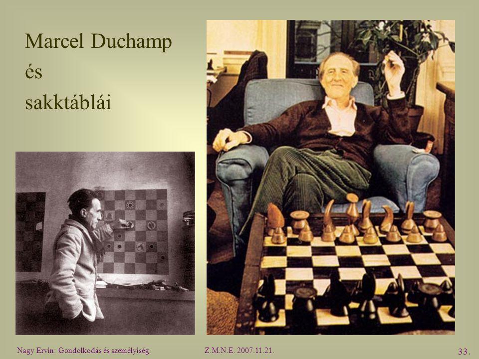 Marcel Duchamp és sakktáblái Nagy Ervin: Gondolkodás és személyiség