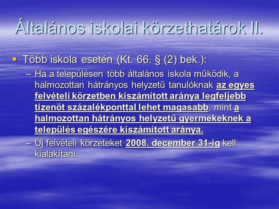 Általános iskolai körzethatárok II.