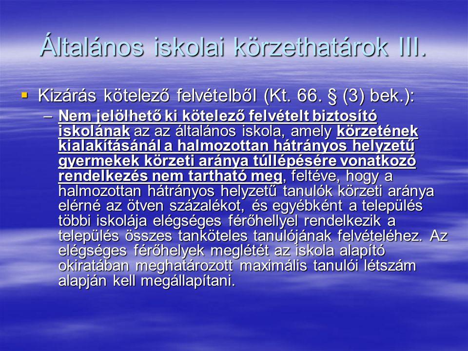 Általános iskolai körzethatárok III.