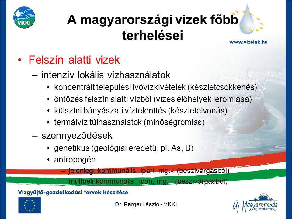 A magyarországi vizek főbb terhelései