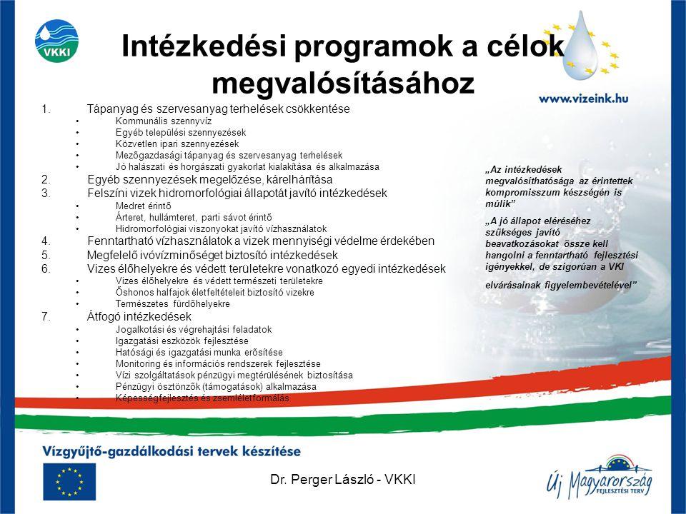 Intézkedési programok a célok megvalósításához