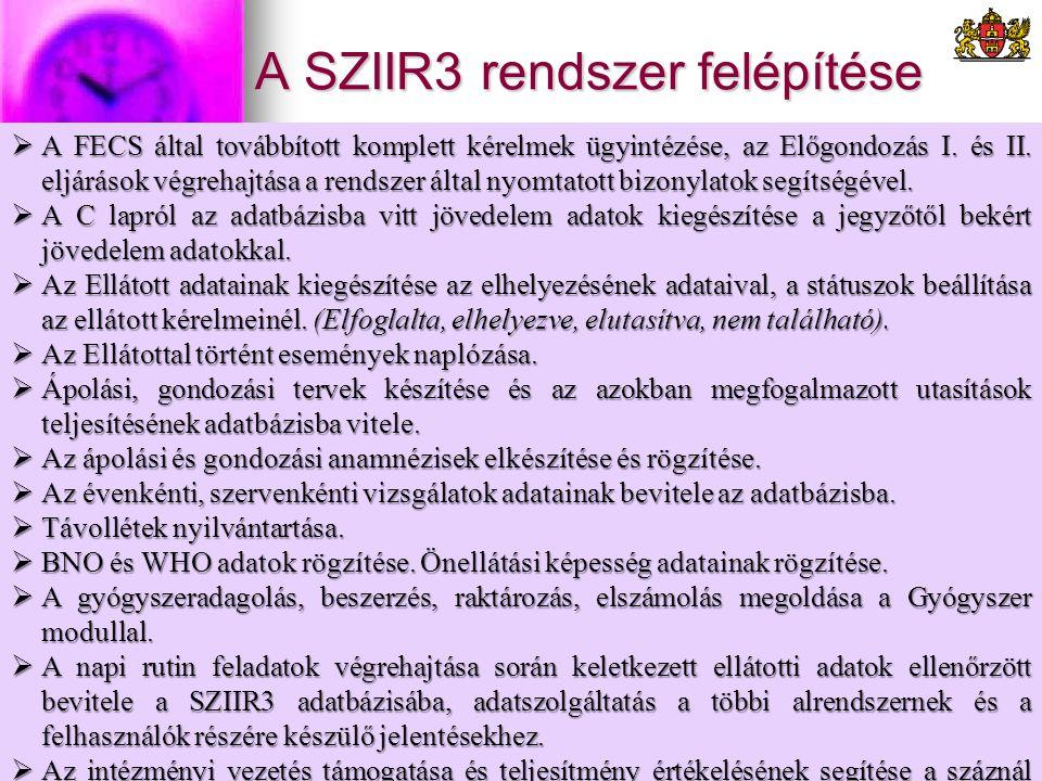 A SZIIR3 rendszer felépítése