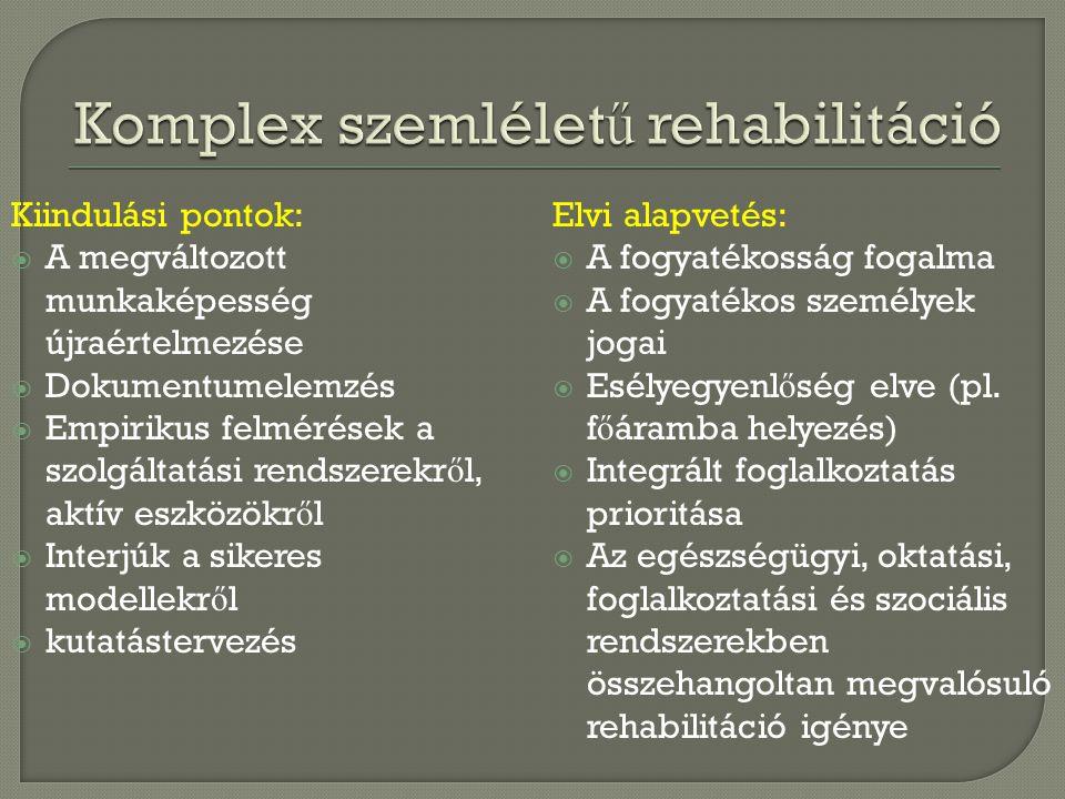 Komplex szemléletű rehabilitáció