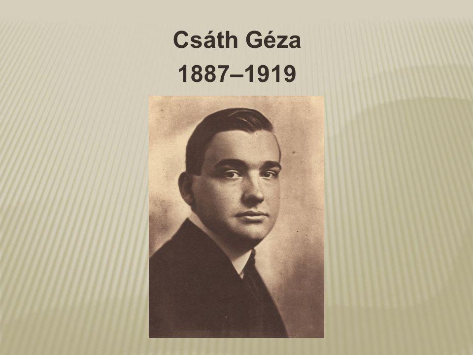Csáth Géza 1887–1919