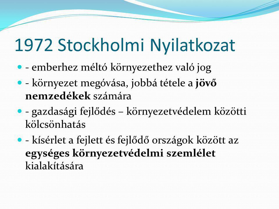 1972 Stockholmi Nyilatkozat