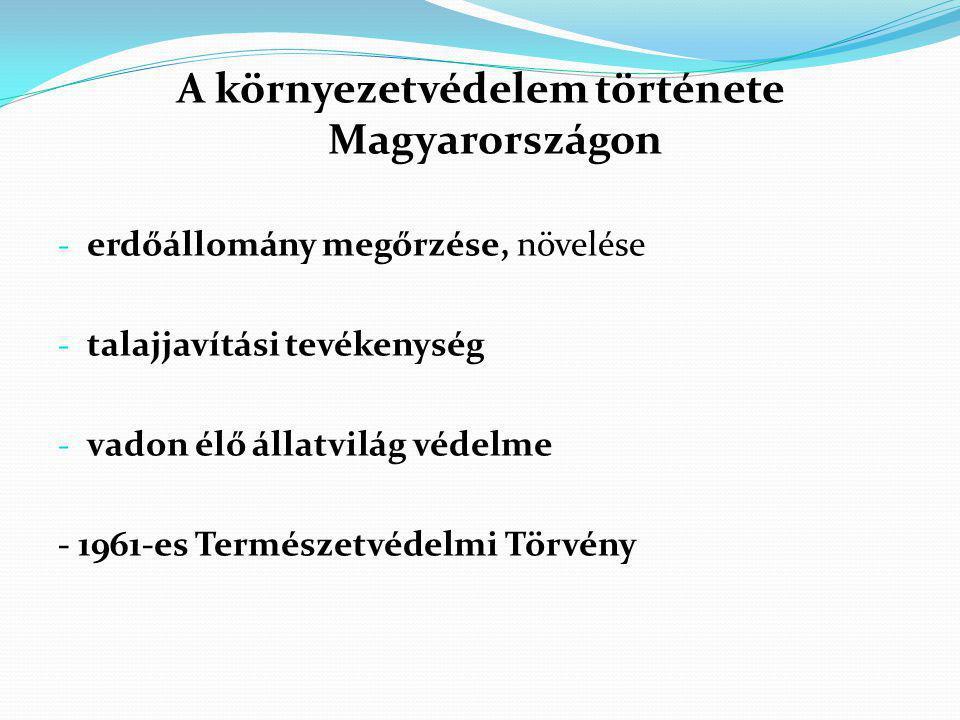 A környezetvédelem története Magyarországon