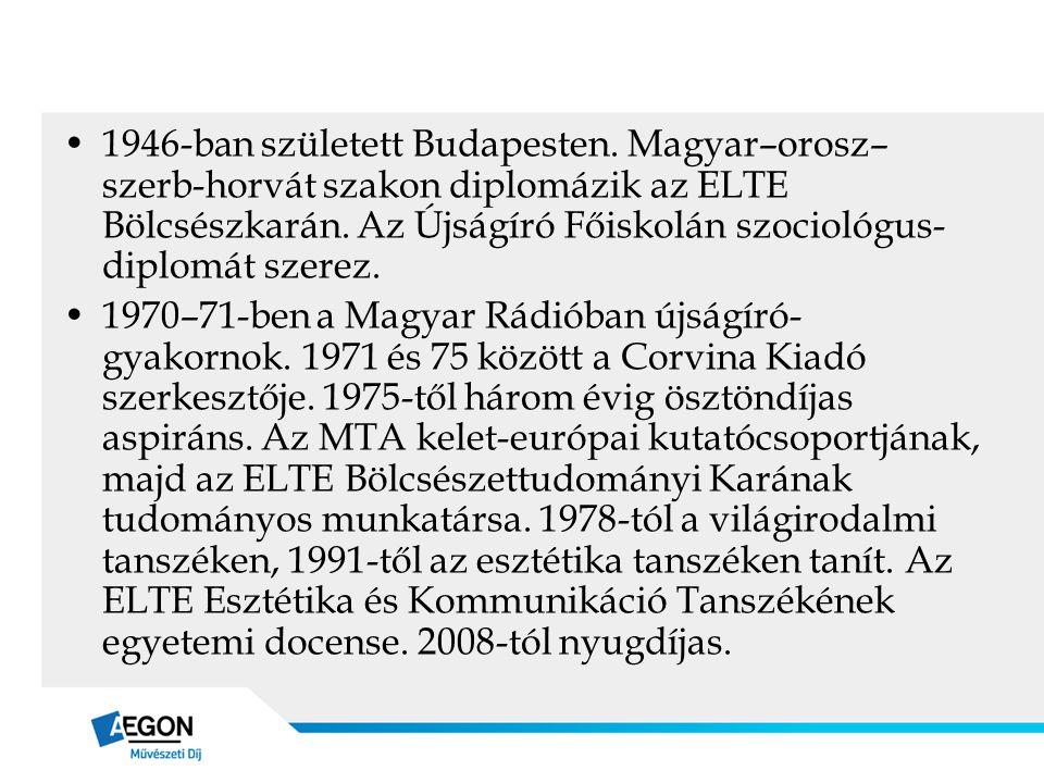 1946-ban született Budapesten