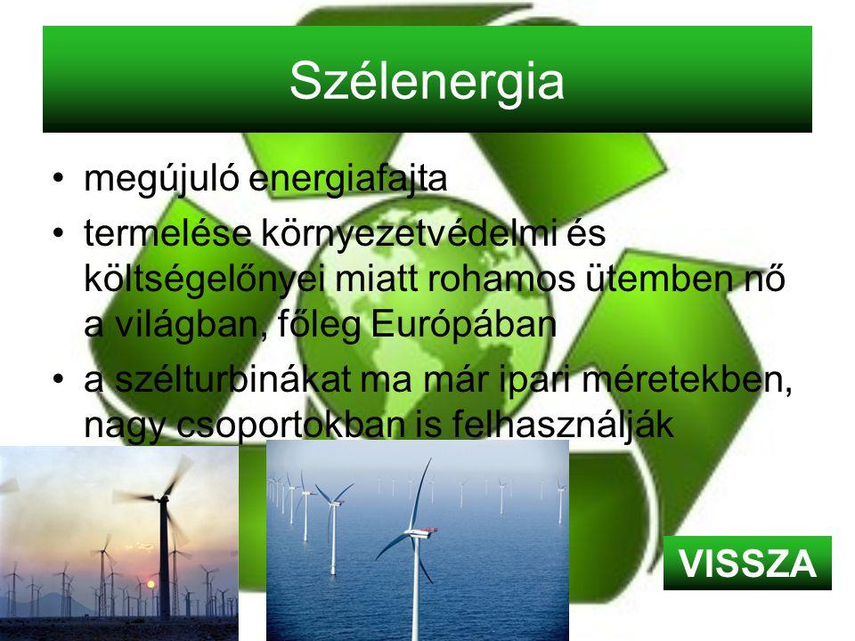 Szélenergia megújuló energiafajta