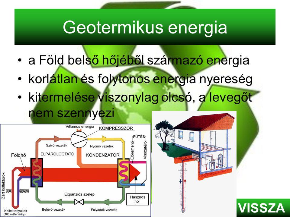 Geotermikus energia a Föld belső hőjéből származó energia