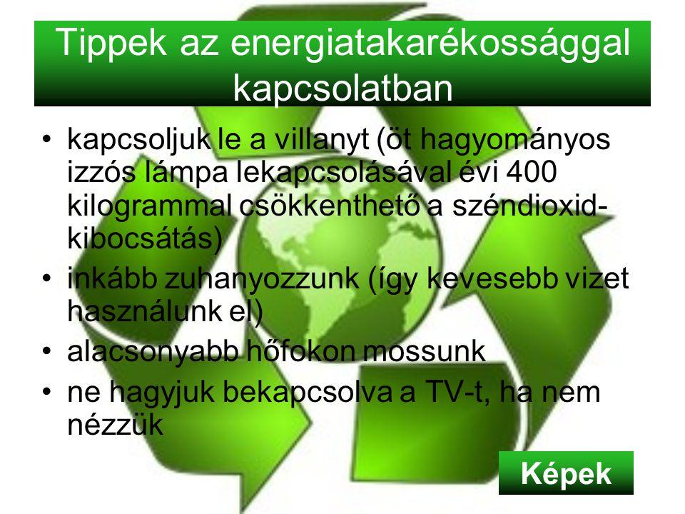 Tippek az energiatakarékossággal kapcsolatban