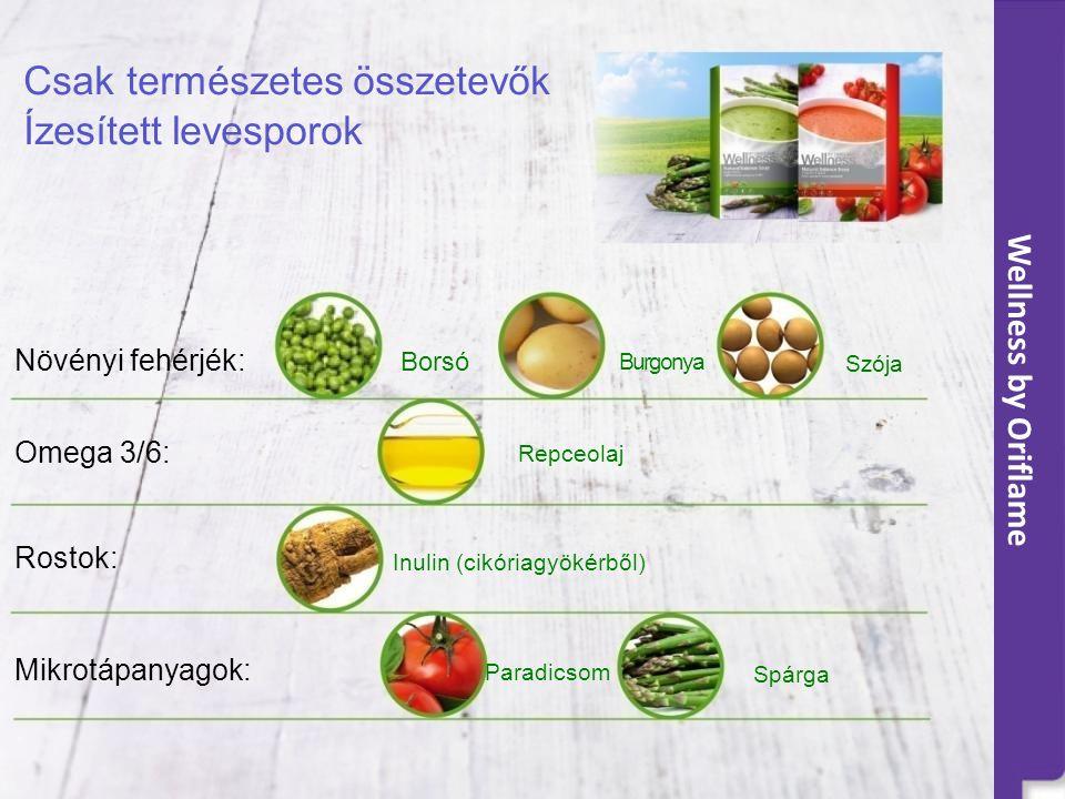 Csak természetes összetevők Ízesített levesporok