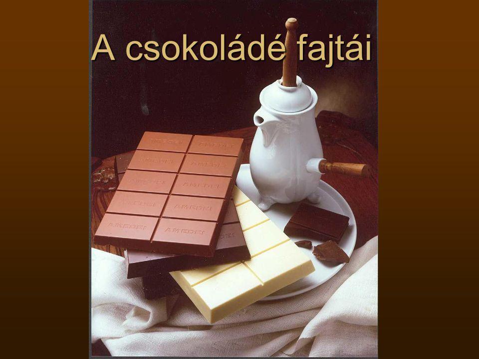 A csokoládé fajtái