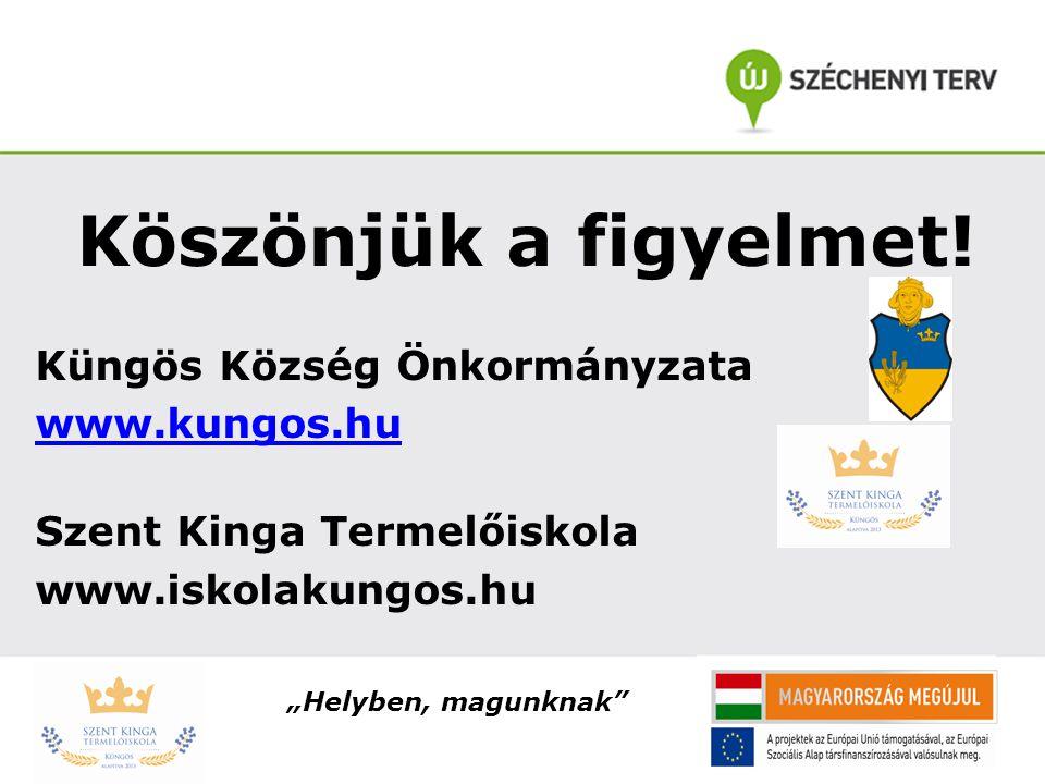 Köszönjük a figyelmet! Küngös Község Önkormányzata www.kungos.hu
