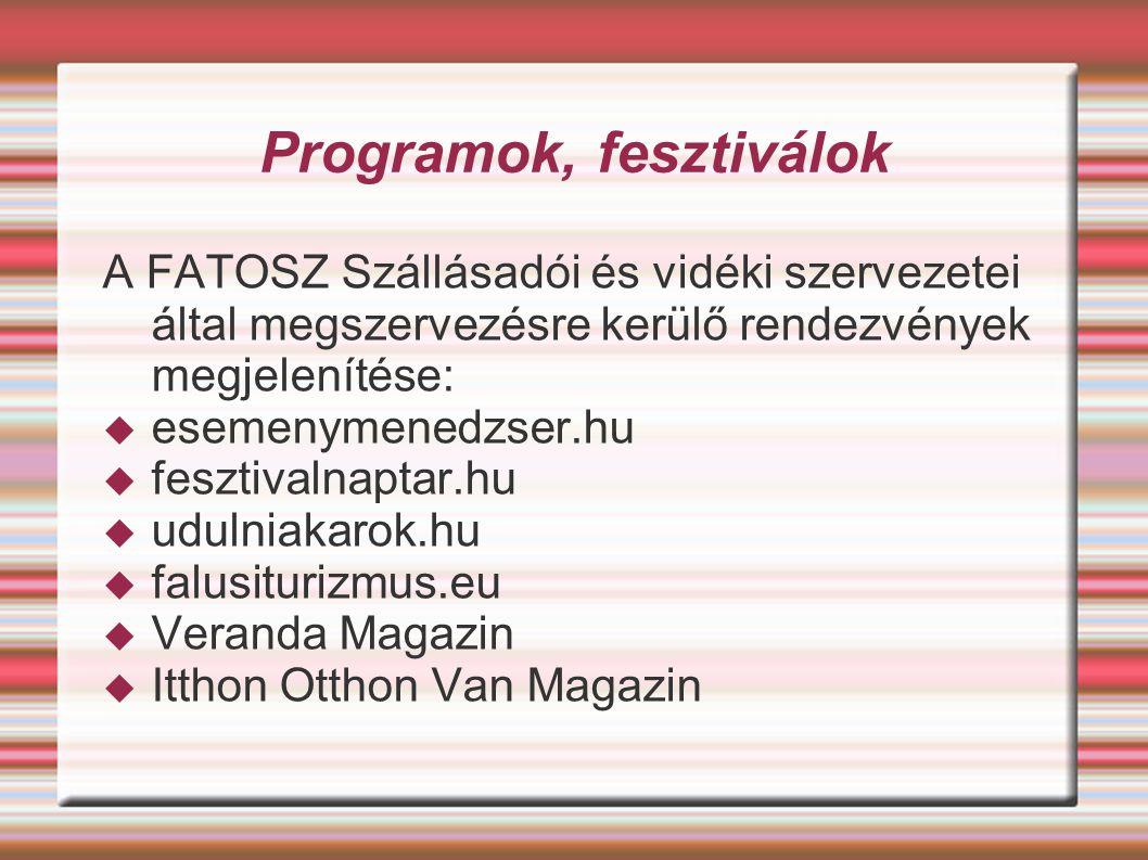 Programok, fesztiválok