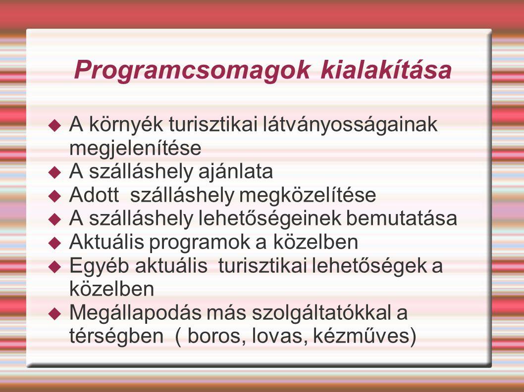 Programcsomagok kialakítása