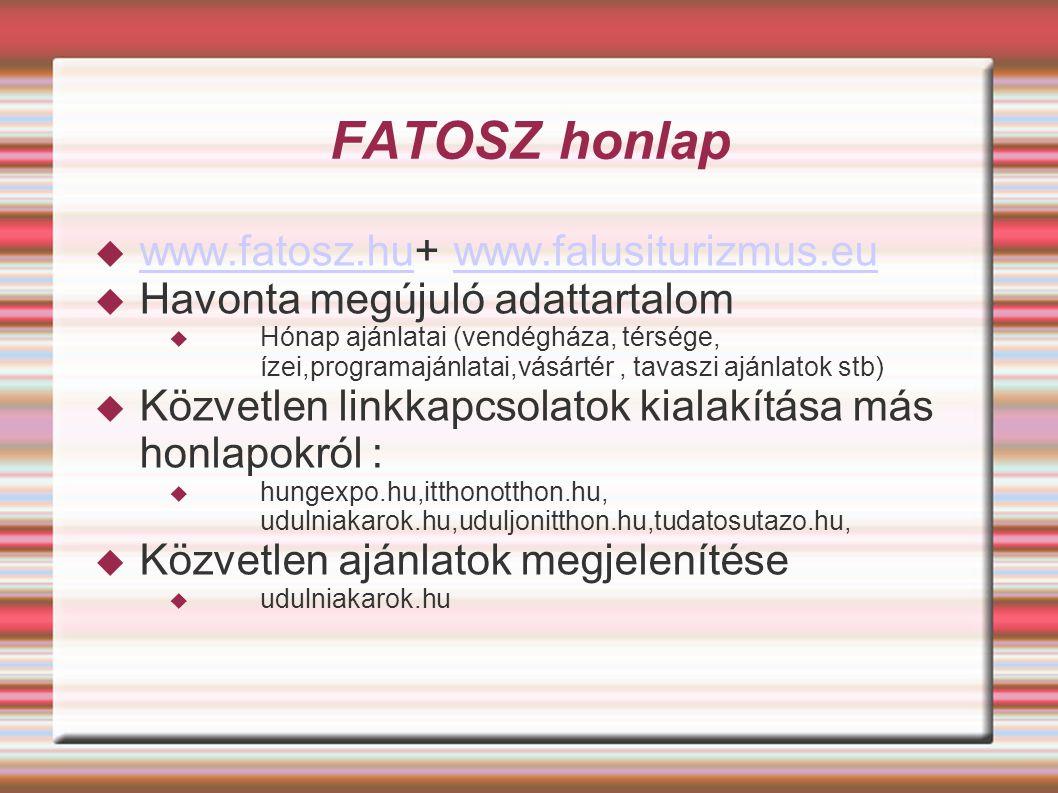 FATOSZ honlap www.fatosz.hu+ www.falusiturizmus.eu