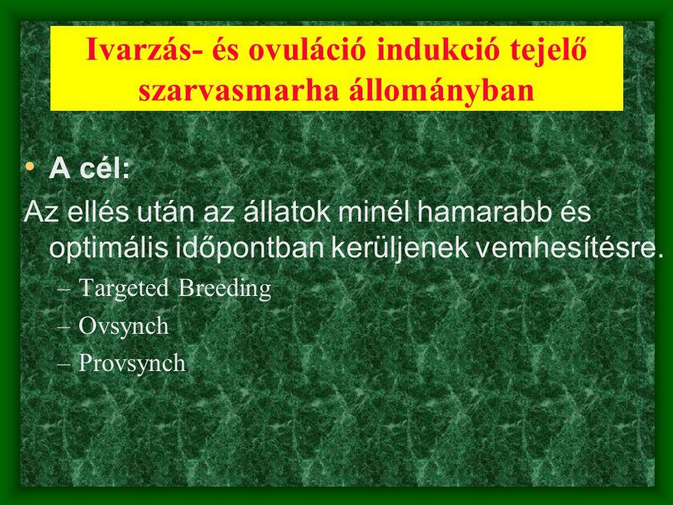 Ivarzás- és ovuláció indukció tejelő szarvasmarha állományban