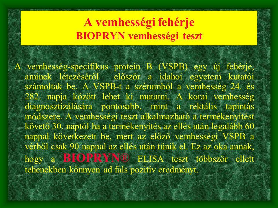 A vemhességi fehérje BIOPRYN vemhességi teszt