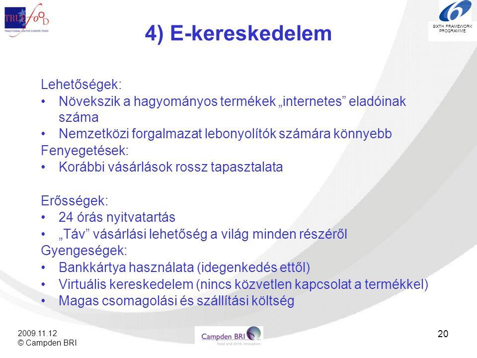 4) E-kereskedelem Lehetőségek: