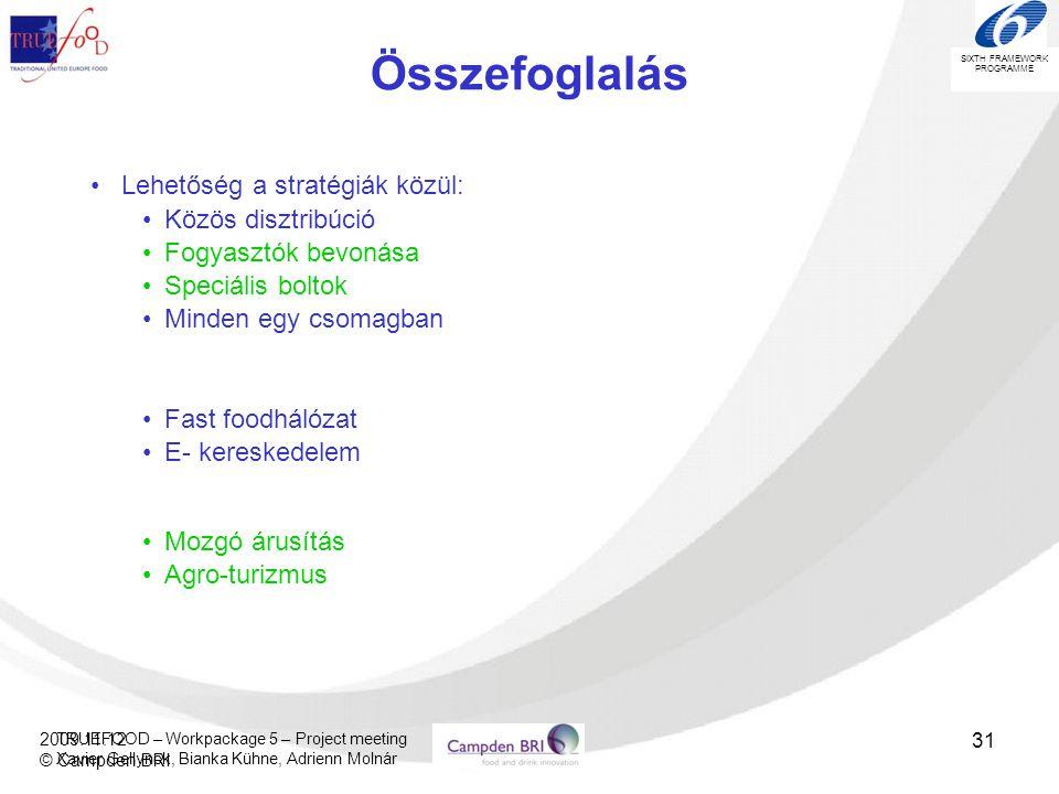 Összefoglalás Lehetőség a stratégiák közül: Közös disztribúció
