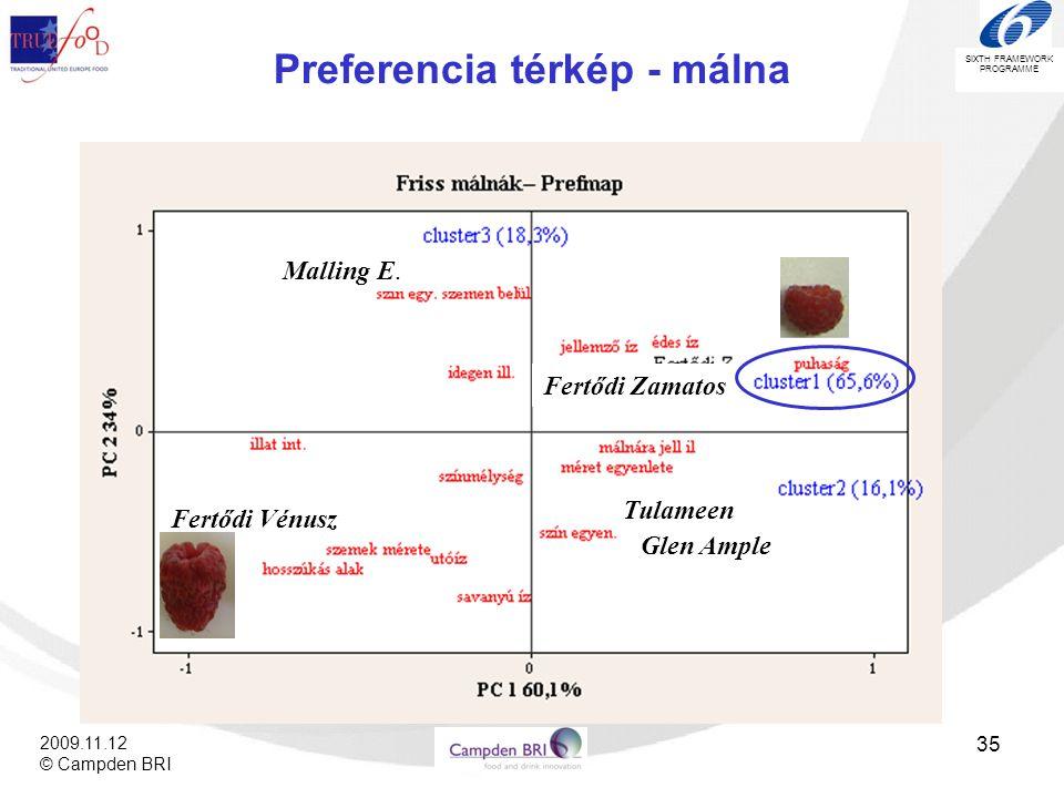 Preferencia térkép - málna