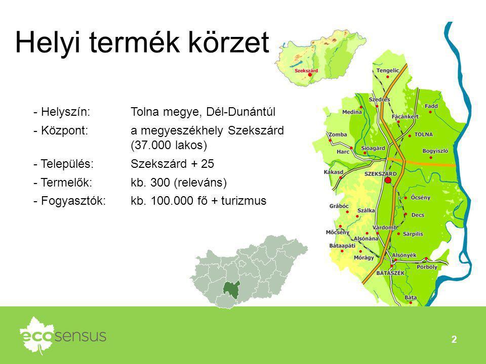 Helyi termék körzet Helyszín: Tolna megye, Dél-Dunántúl