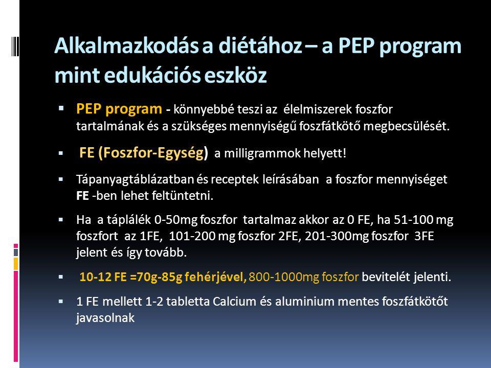 Alkalmazkodás a diétához – a PEP program mint edukációs eszköz