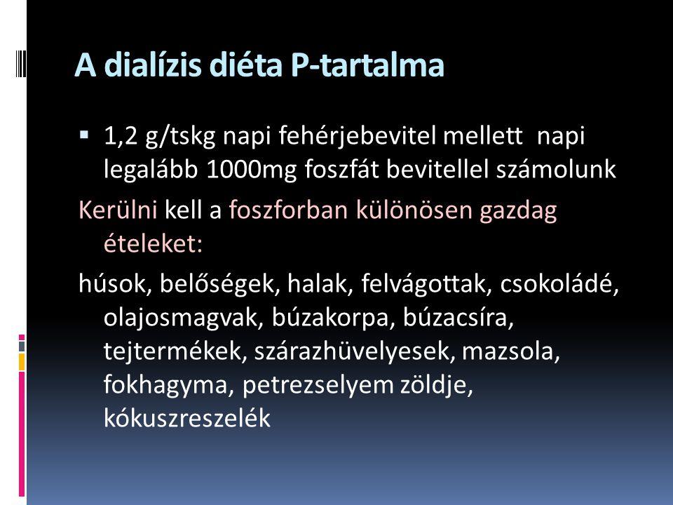 A dialízis diéta P-tartalma