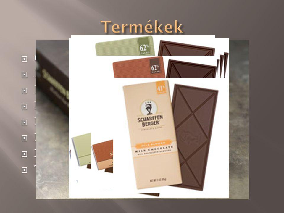 Termékek Cukormentes kakaó(99%) Extra ét (82%) Keserédes (70%)