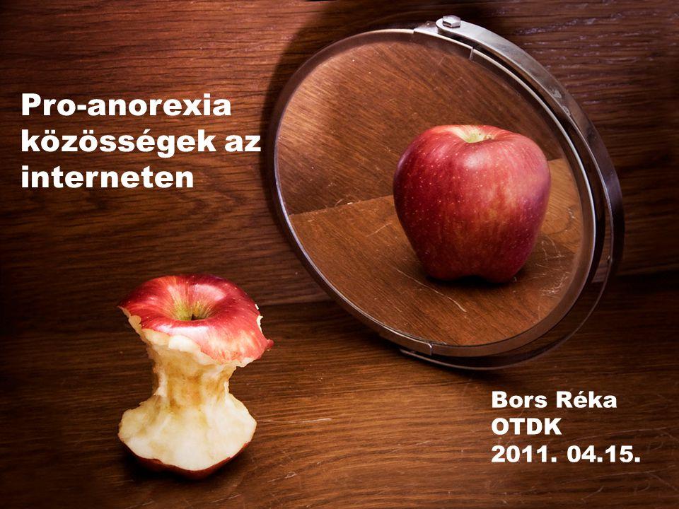 Pro-anorexia közösségek az interneten