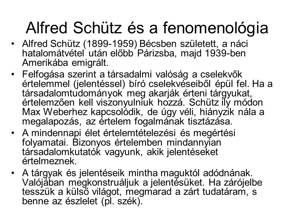 Alfred Schütz és a fenomenológia