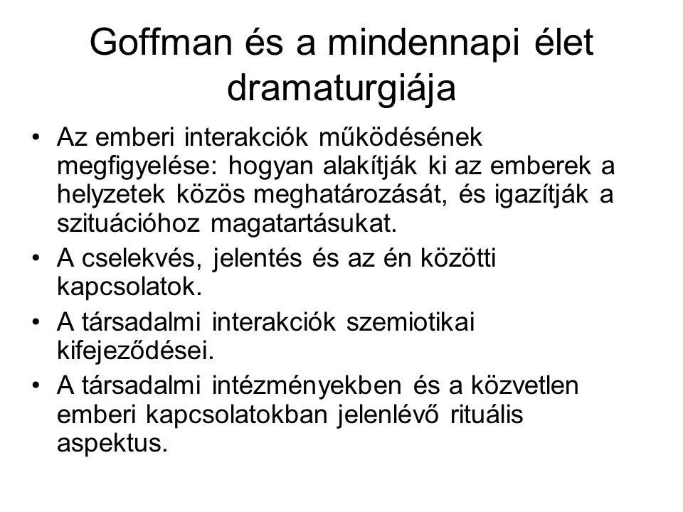 Goffman és a mindennapi élet dramaturgiája