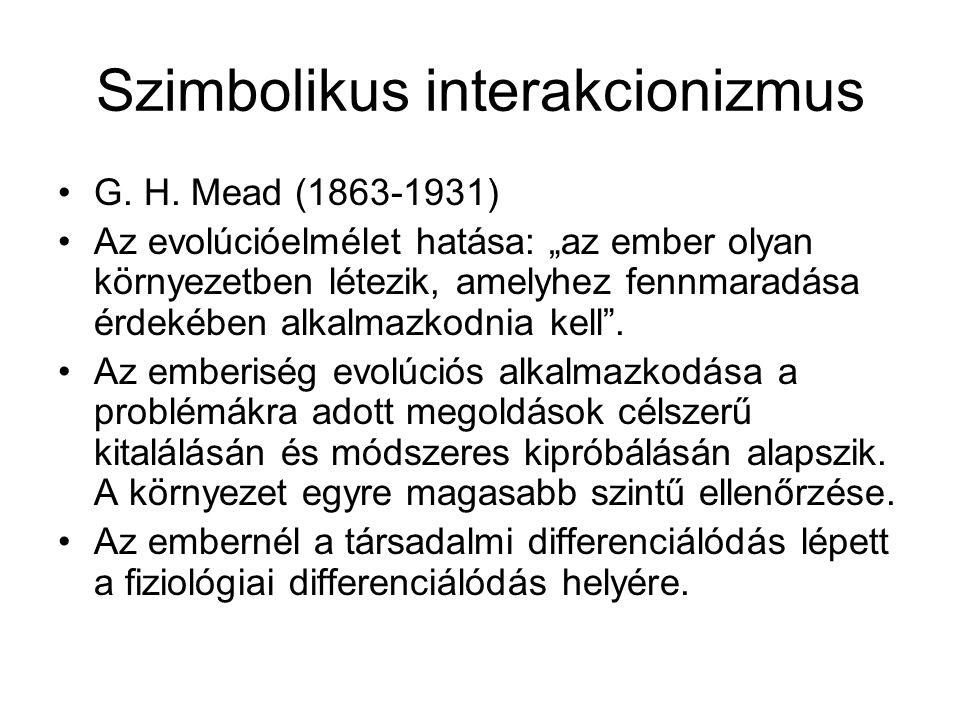 Szimbolikus interakcionizmus