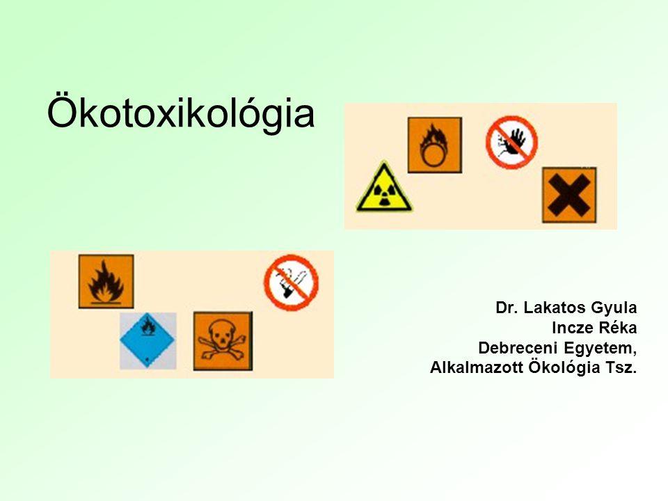 Ökotoxikológia Dr. Lakatos Gyula Incze Réka Debreceni Egyetem,