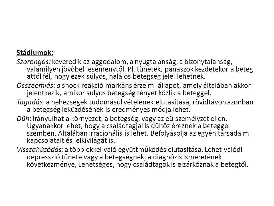 Stádiumok: