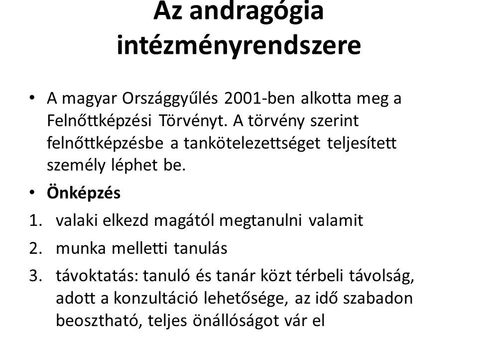 Az andragógia intézményrendszere
