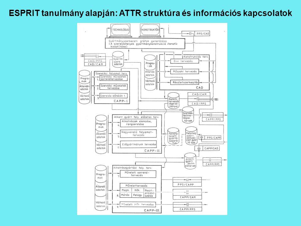 ESPRIT tanulmány alapján: ATTR struktúra és információs kapcsolatok