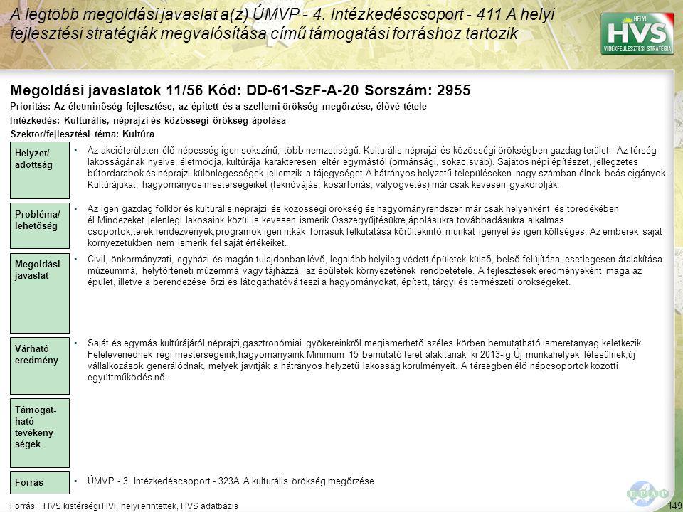 Megoldási javaslatok 11/56 Kód: DD-61-SzF-A-20 Sorszám: 2955